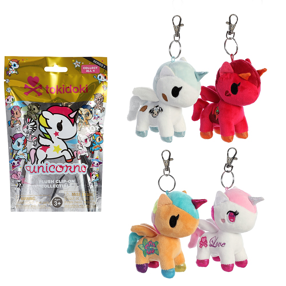 Clip-On Tokidoki Unicorno Plush Series 1 Mystery Pack Image #1
