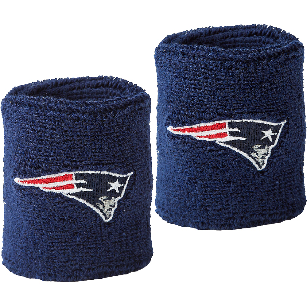 New England Patriots Sweat Bands 2ct Image #1