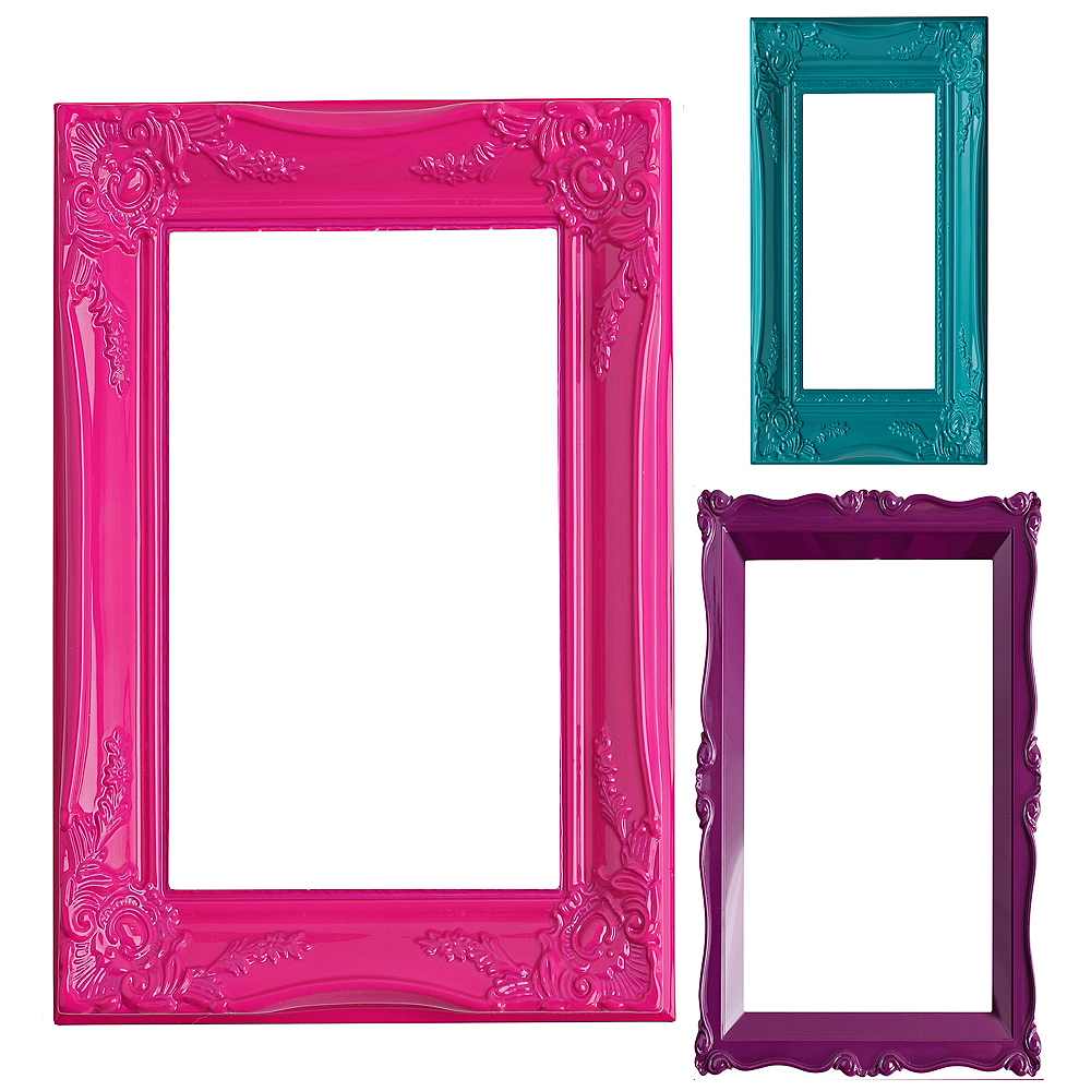 Colorful Photo Booth Frames 3ct | Party City