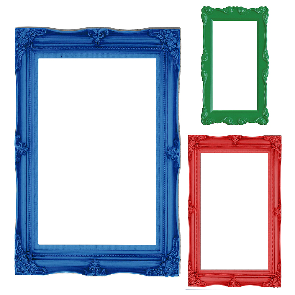 Primary Color Photo Booth Frames 3ct | Party City