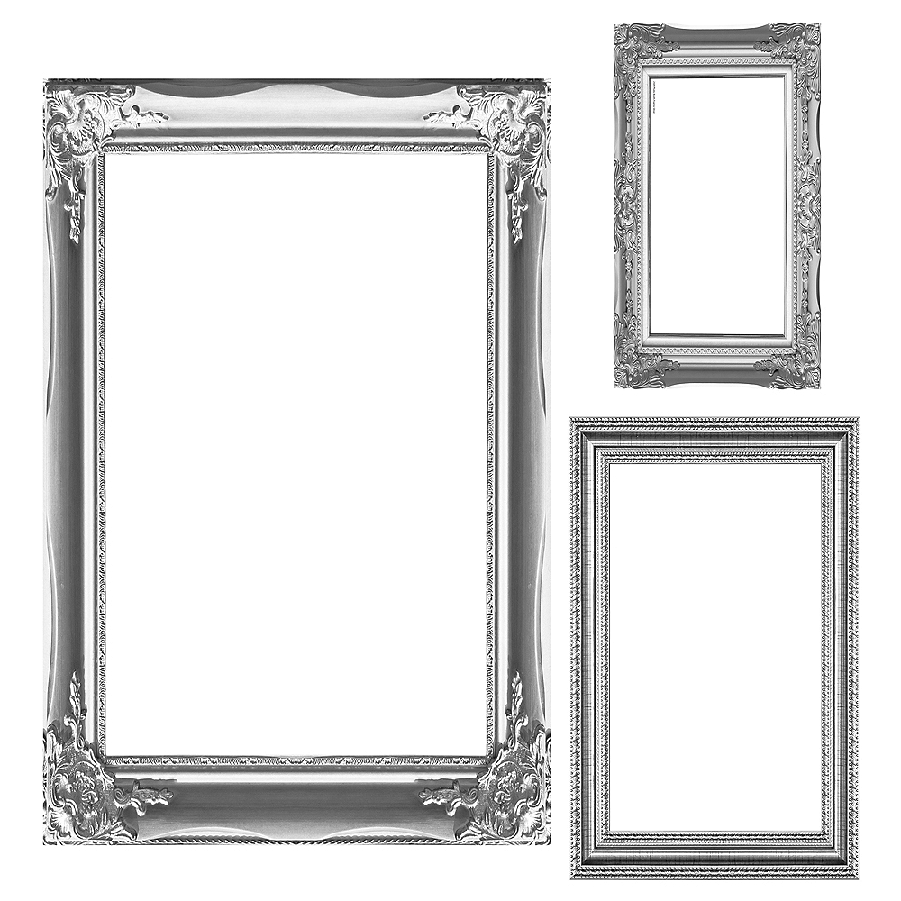 Silver Photo Booth Frames 3ct | Party City