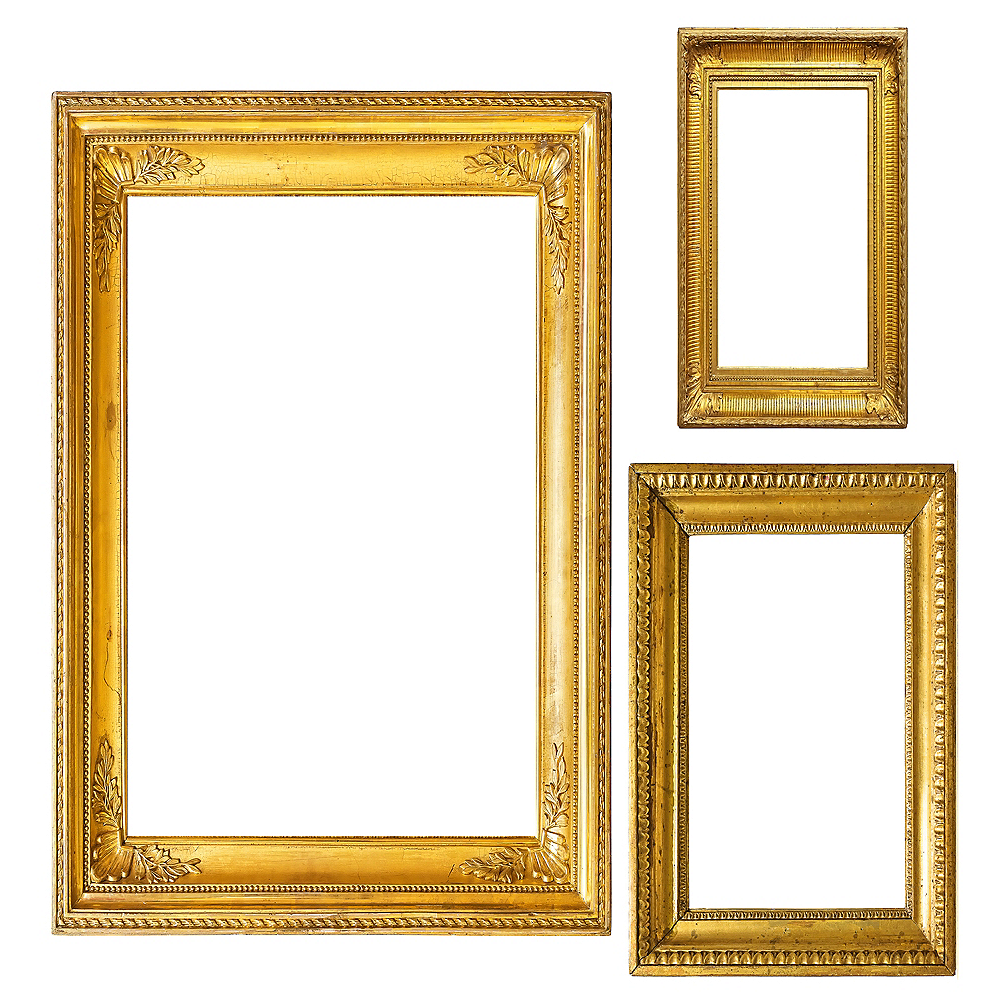 Gold Photo Booth Frames 3ct Image #1