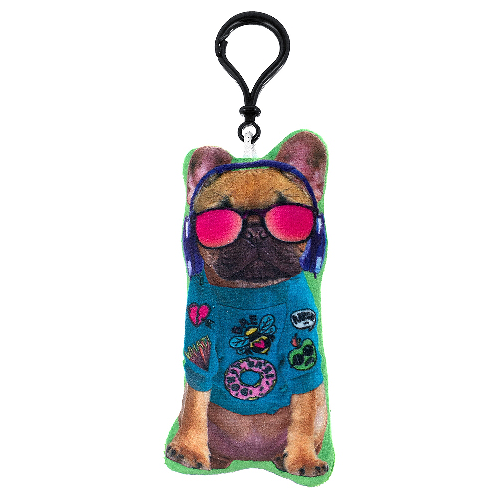 Clip-On Trendy Dog Plush Image #1