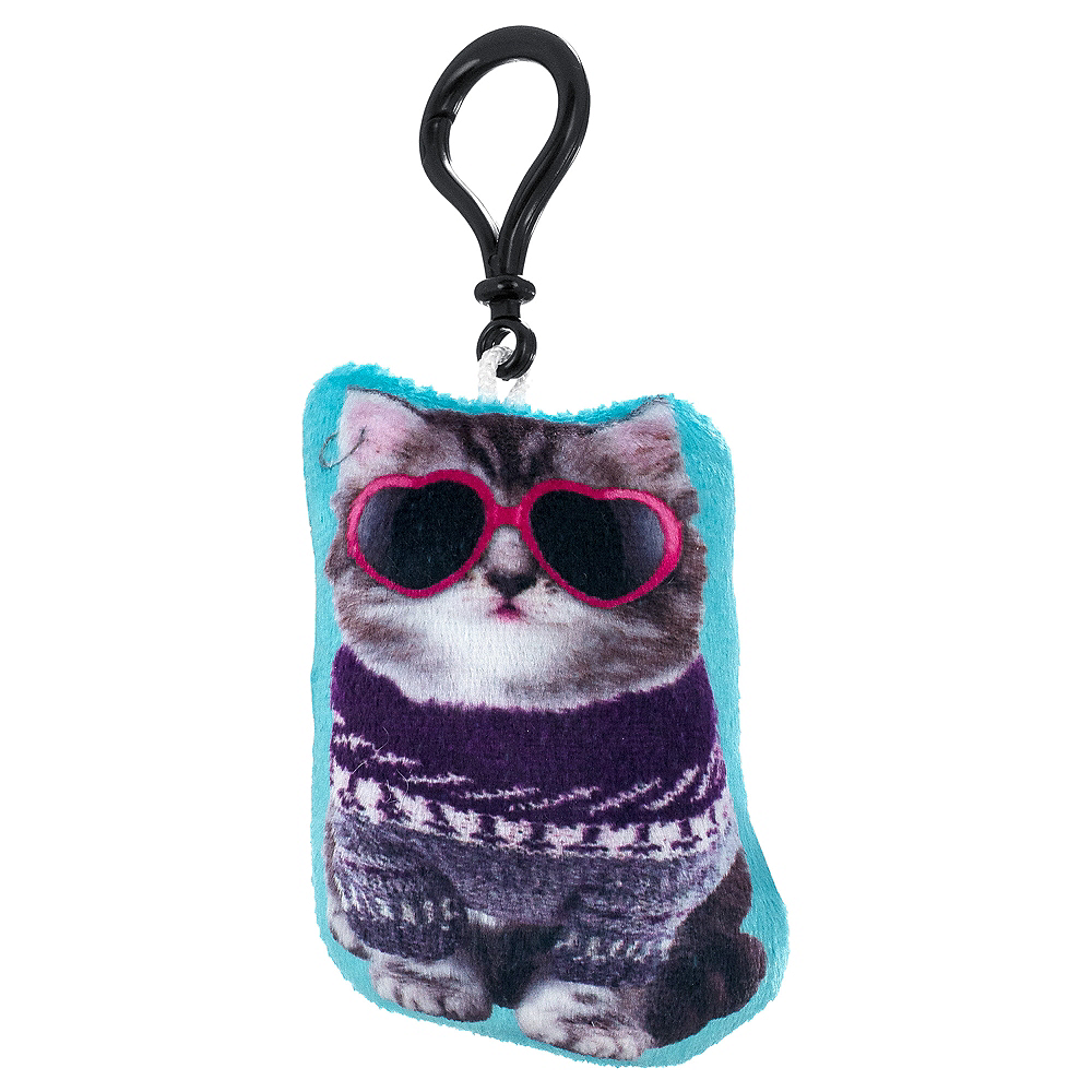 Clip-On Ugly Sweater Cat Plush Image #1