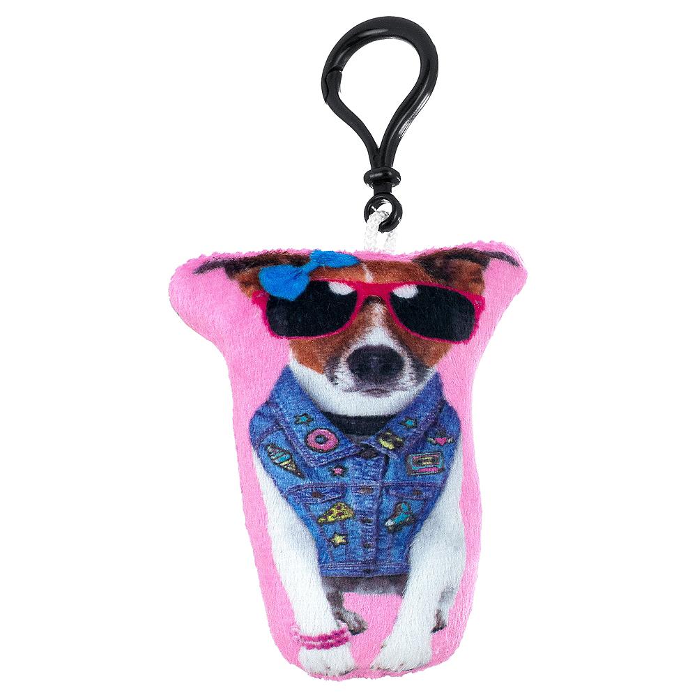 Clip-On Denim Dog Plush Image #1