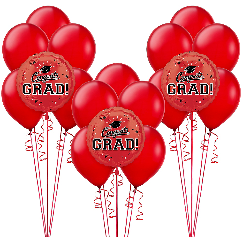 Red Graduation Balloon Kit Image #1