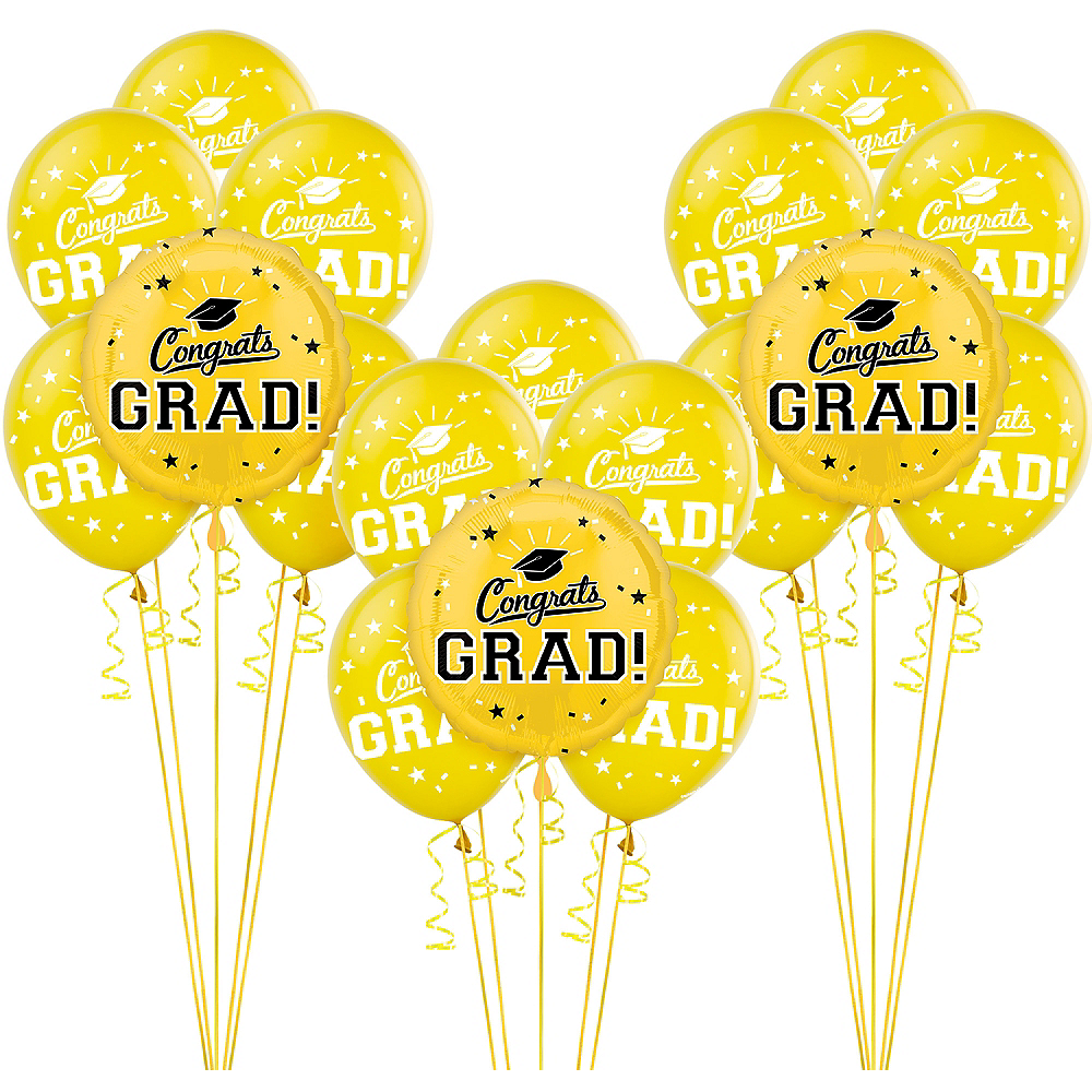 Nav Item for Yellow Graduation Balloon Kit Image #1