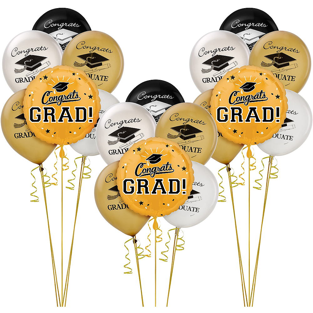 Gold Graduation Balloon Kit Image #1