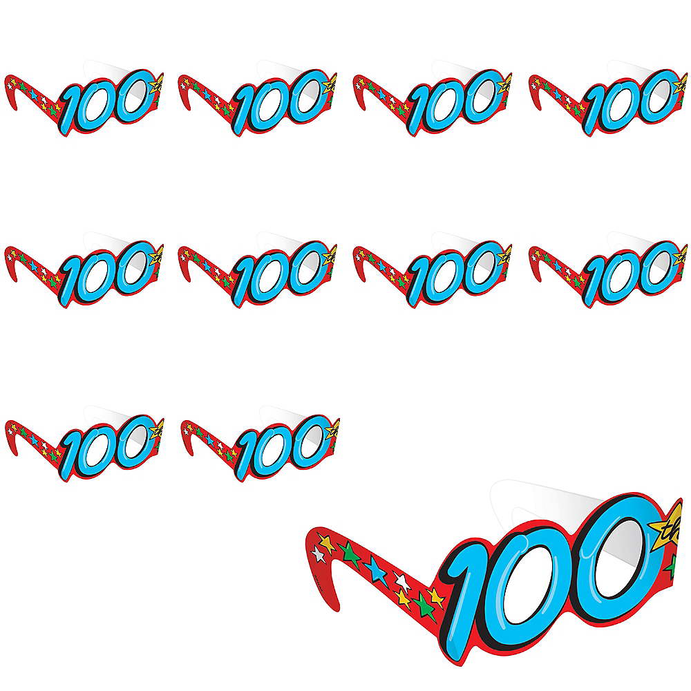 100th Day of School Glasses 12ct Image #1