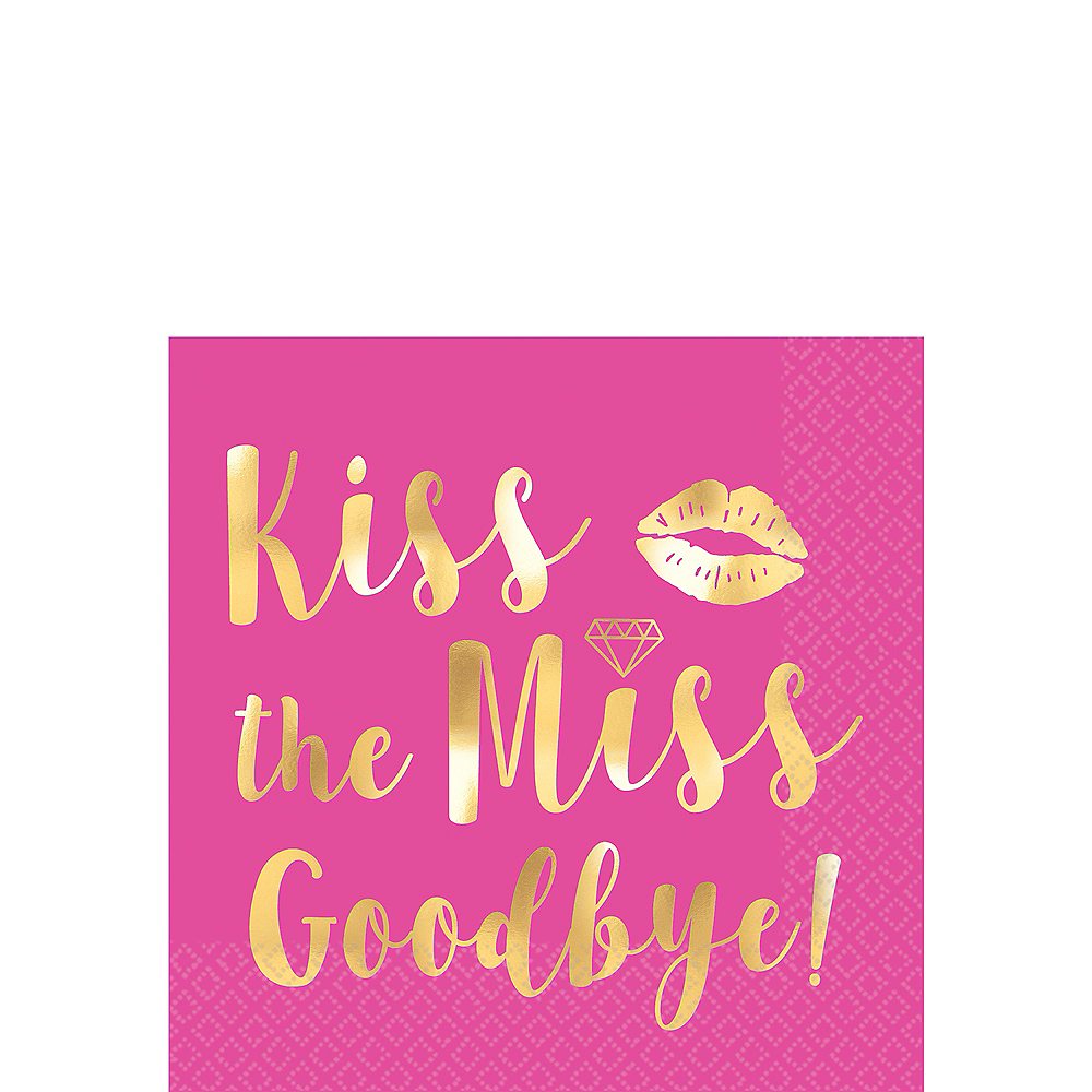 Kiss The Miss Goodbye Beverage Napkins 16ct Image #1