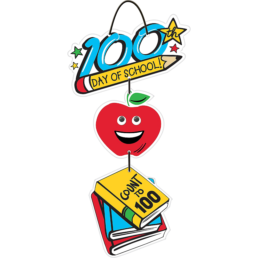 100th Day of School Stacked Sign Image #1