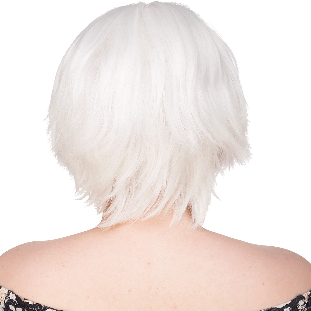 Nav Item for Short White Wig Image #2