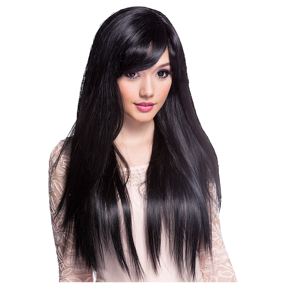 Stylish Long Black Wig Image #1