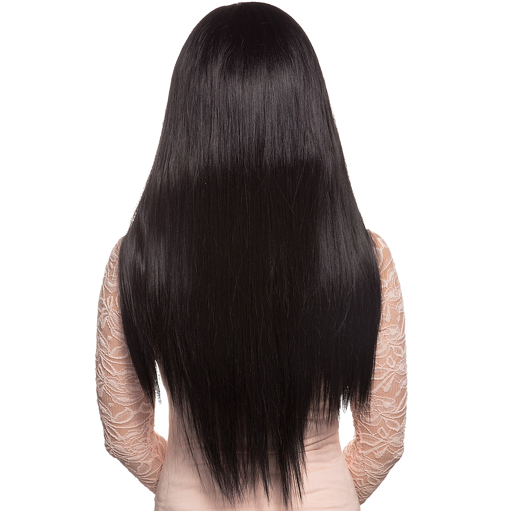 Stylish Long Black Wig Image #2