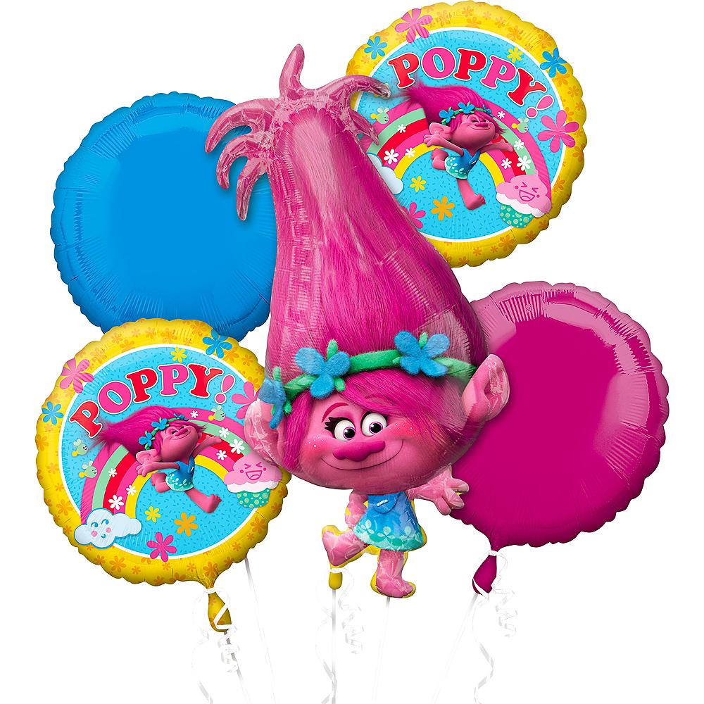 Giant Poppy Balloon Bouquet 5pc - Trolls | Party City