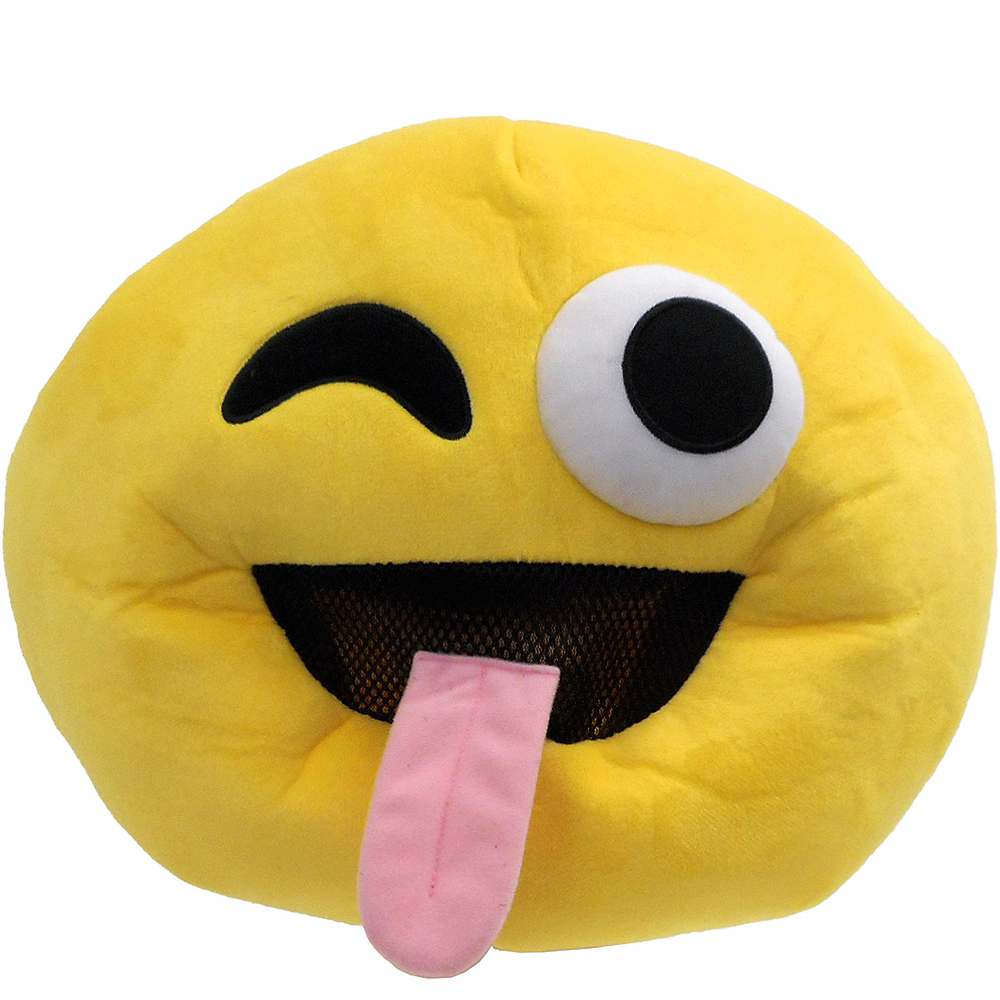 Oversized Tongue Out Winking Smiley Mask Image #1