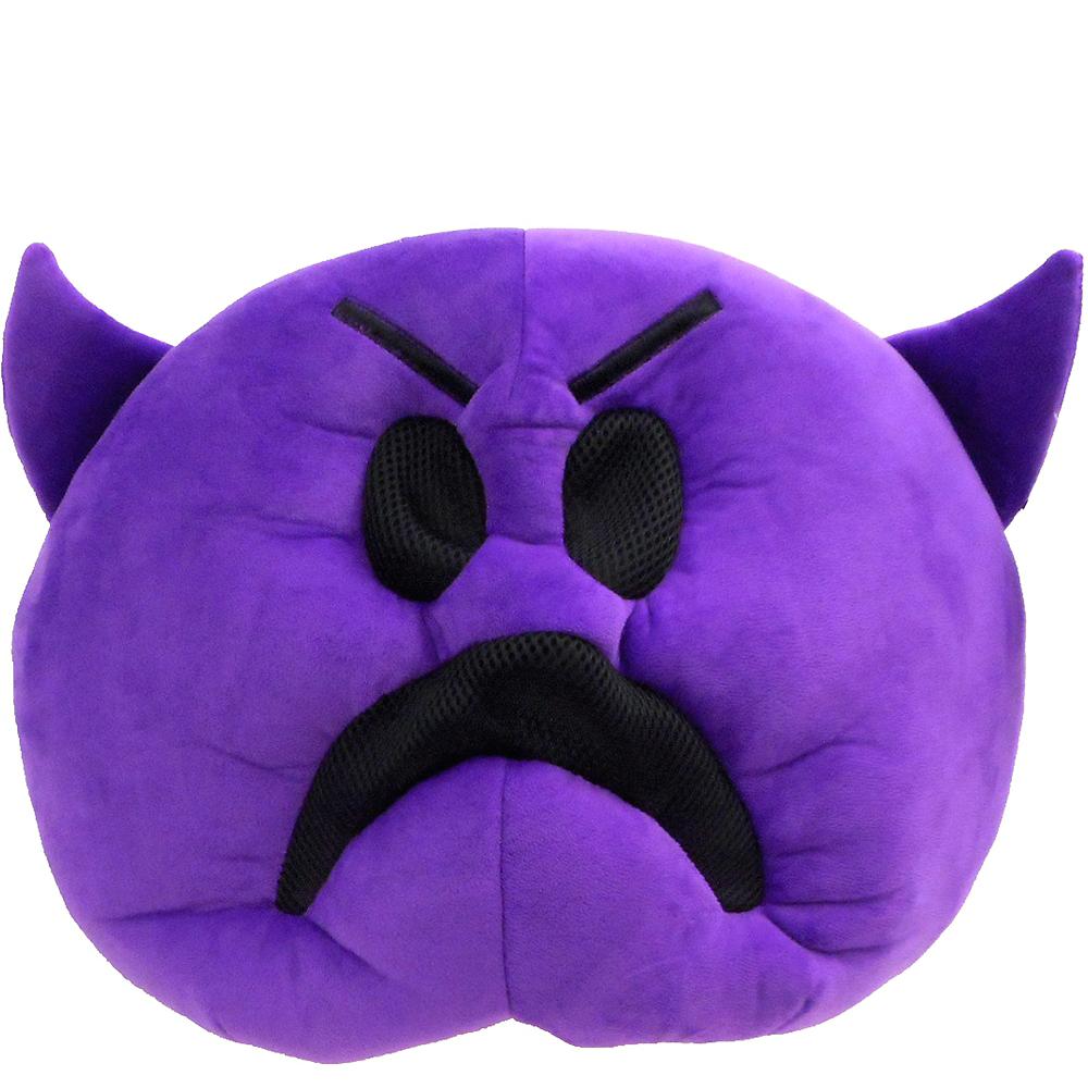 Oversized Frowning Purple Devil Icon Mask Image #1