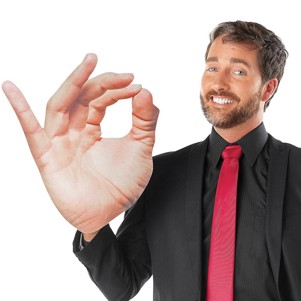 Adult Oversized OK Hand Sign Image #1