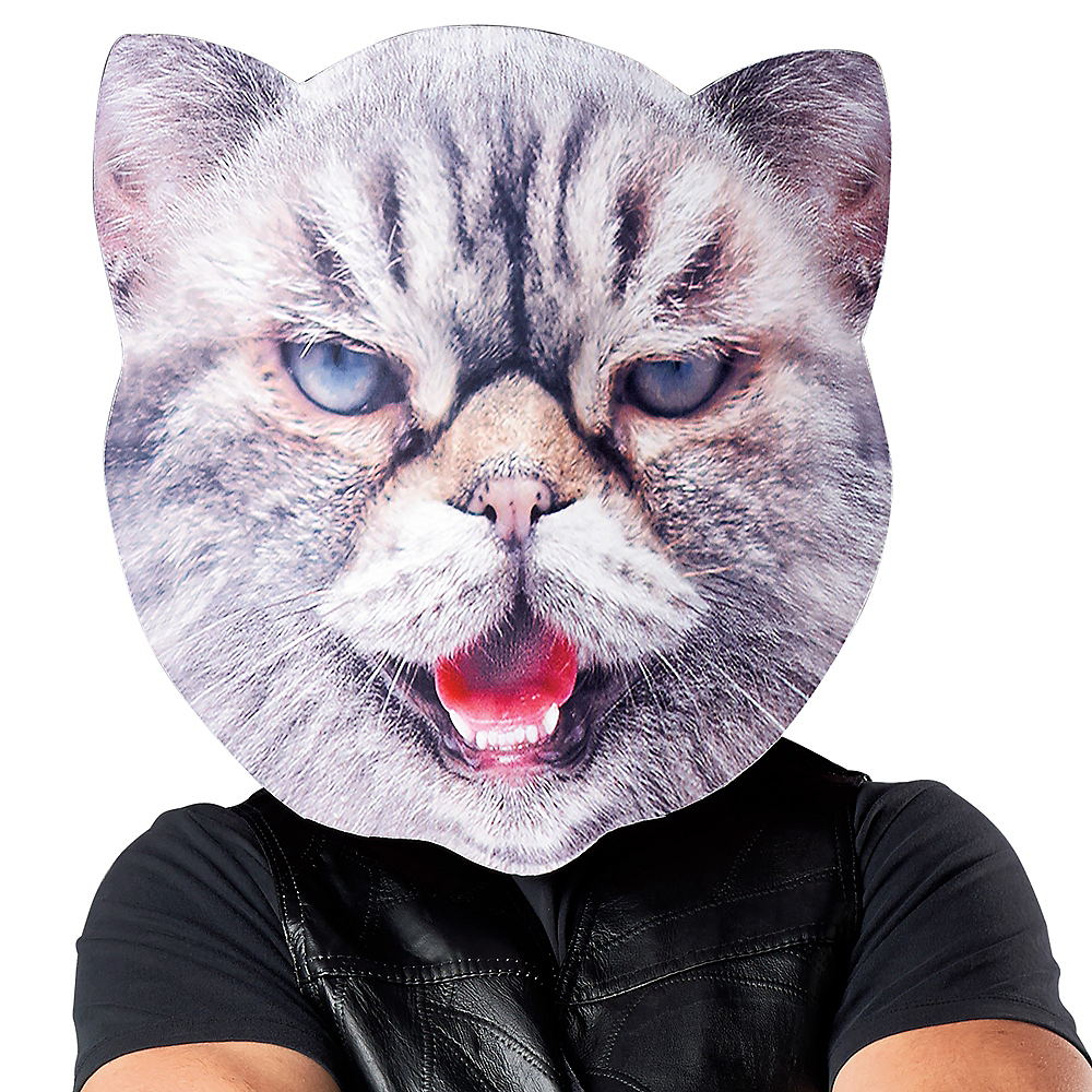 Nav Item for Adult Oversized Mad Cat Mask Image #1