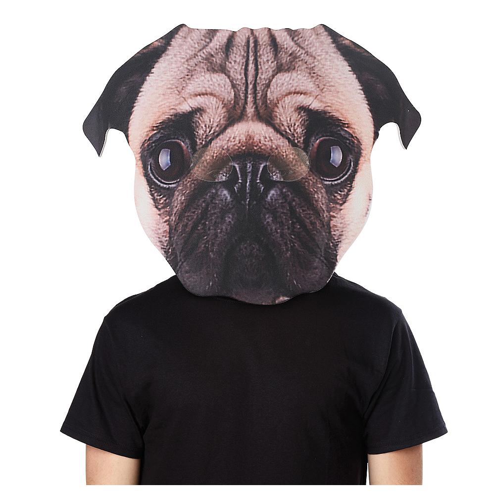 Adult Oversized Pug Dog Mask Image #1