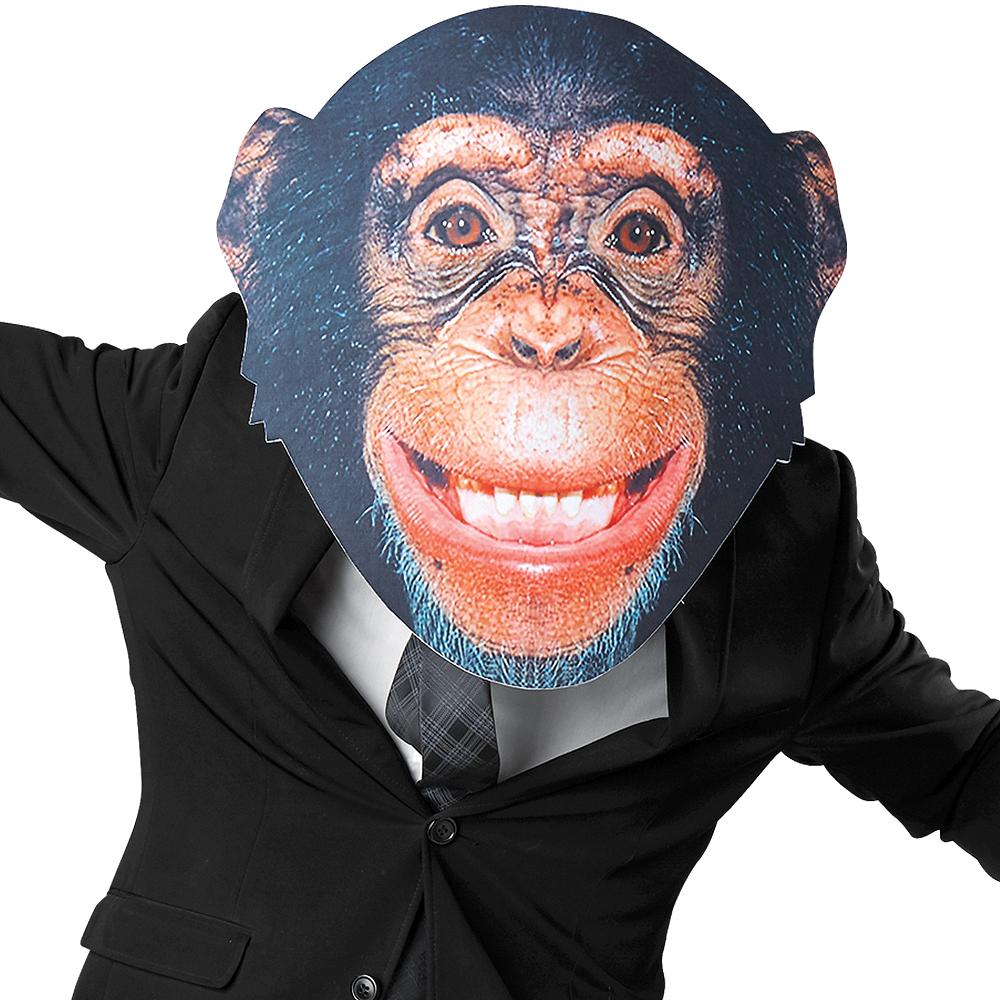 Adult Oversized Chimp Monkey Mask Image #1