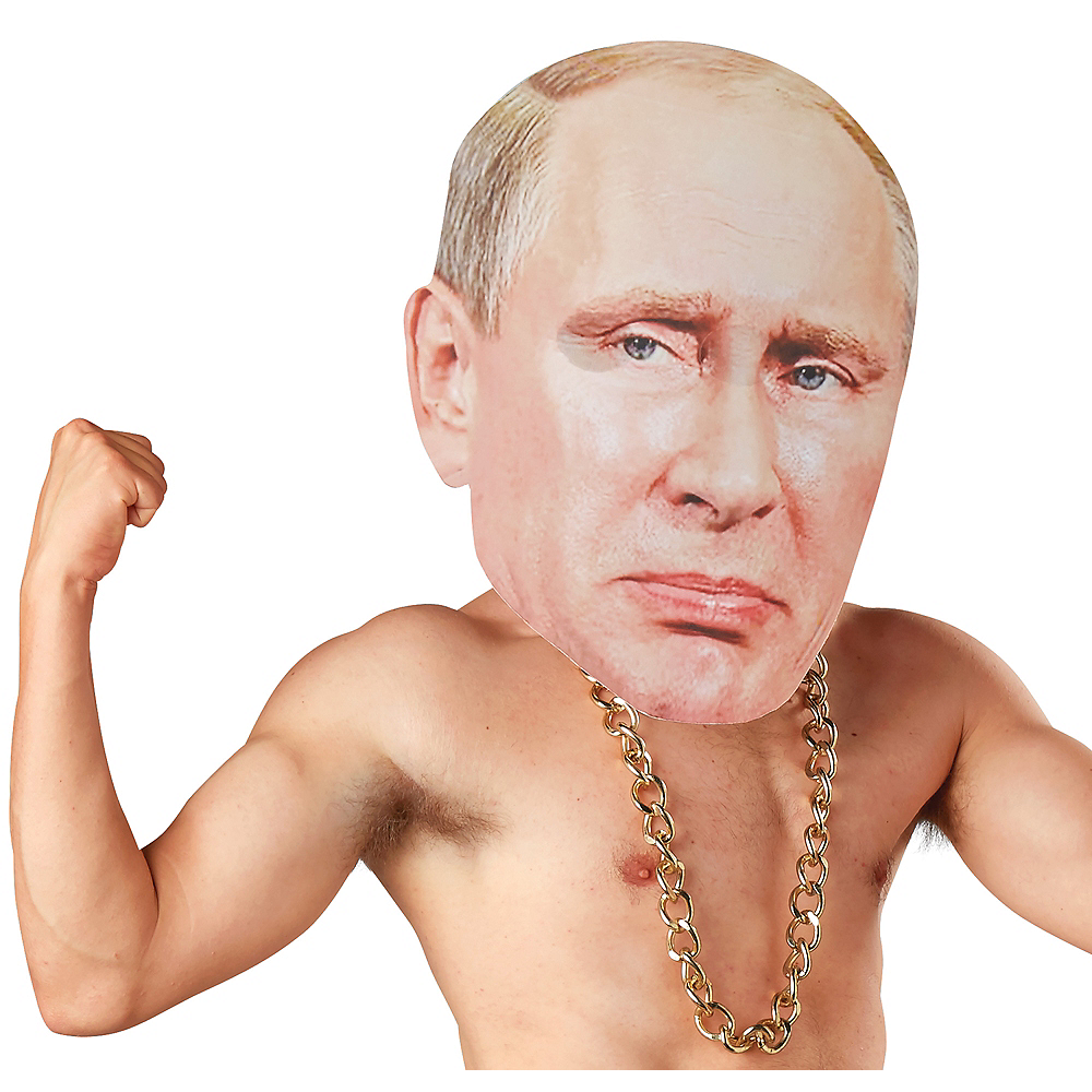 Adult Oversized Russian President Mask Image #1