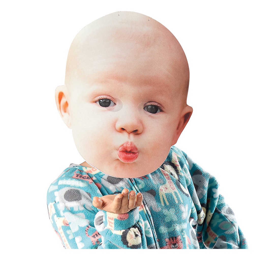 Nav Item for Adult Oversized Kissy Face Baby Mask Image #1