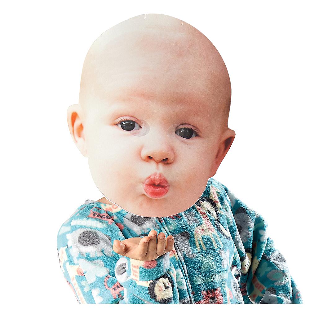 Adult Oversized Kissy Face Baby Mask Image #1