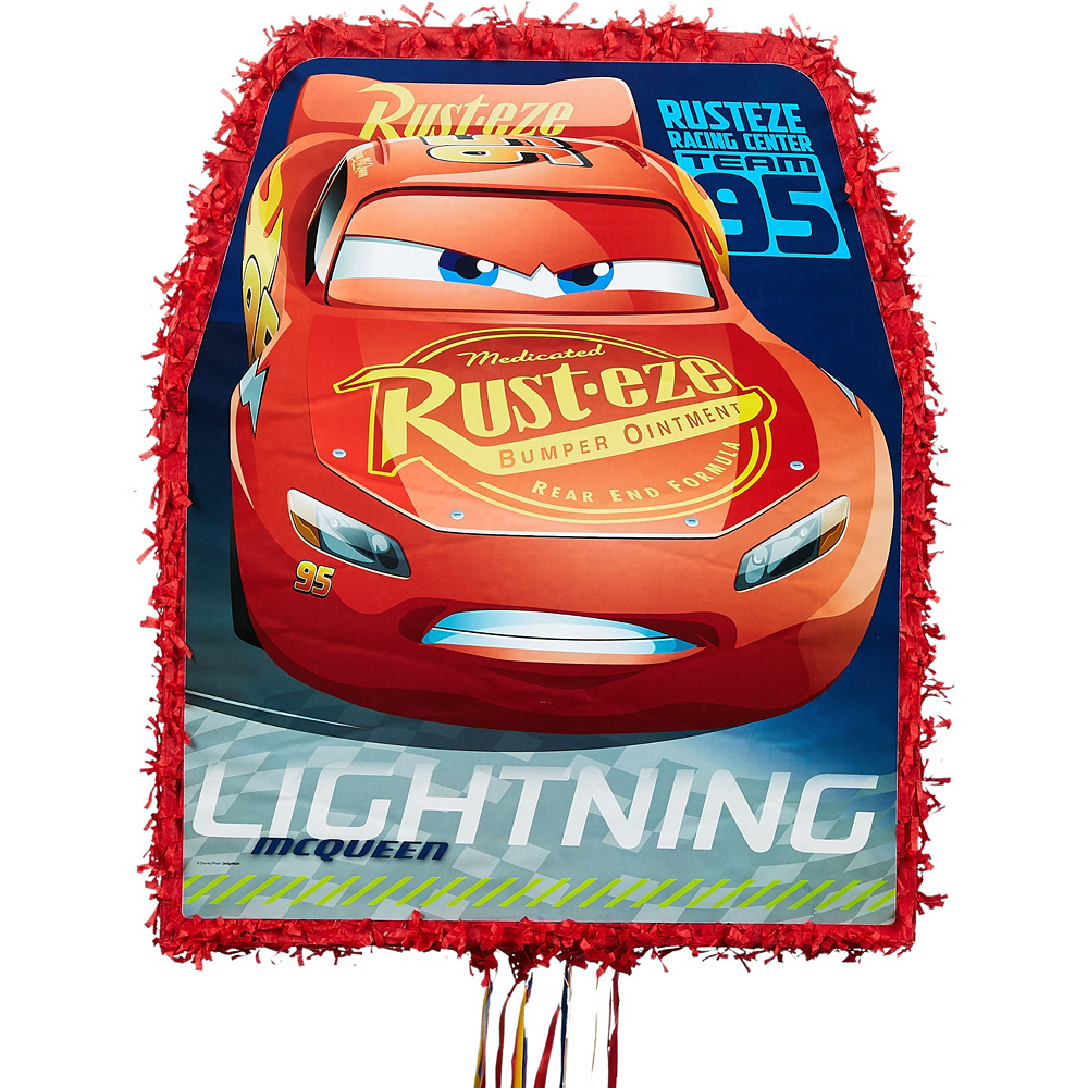 Lightning McQueen Pinata Kit with Favors - Cars 3 Image #5