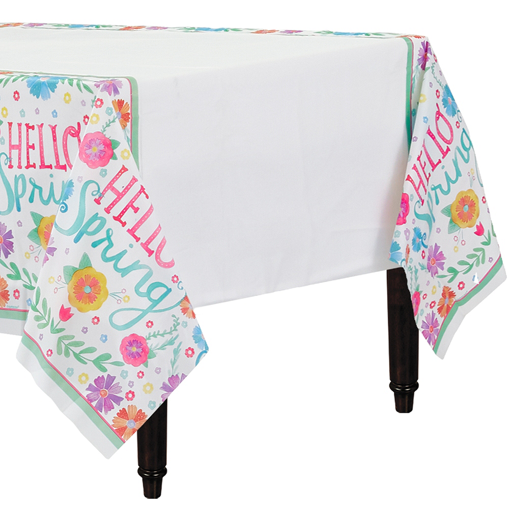 Watercolor Spring Table Cover Image #1