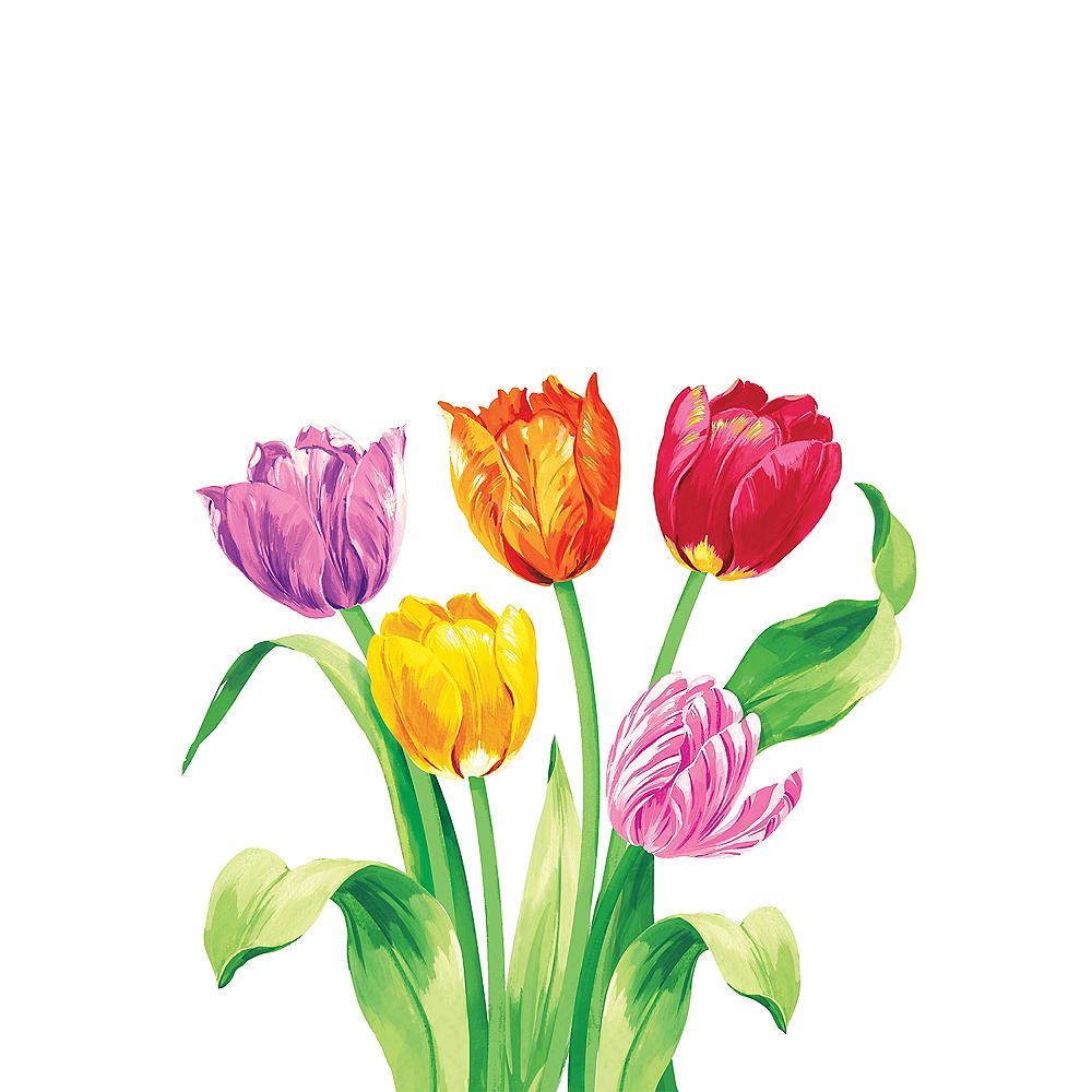 Spring Tulips Dinner Napkins 16ct Image #1