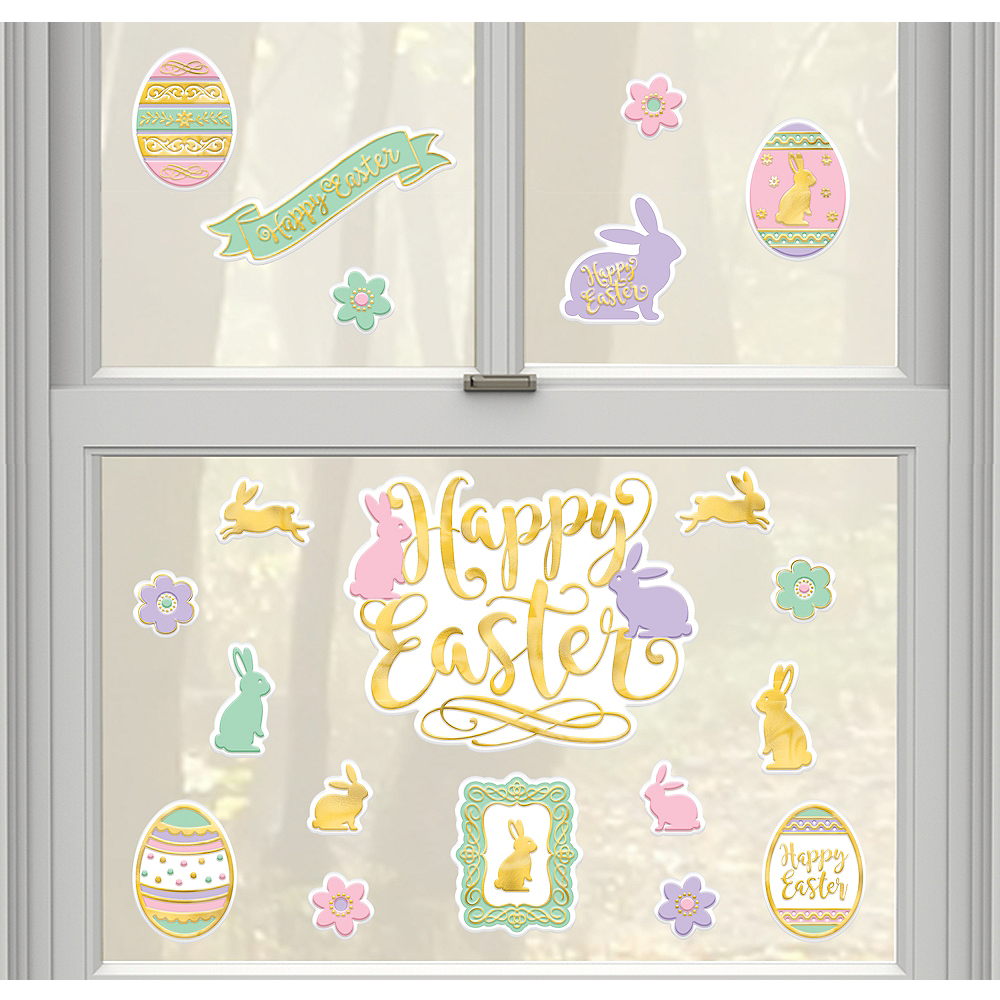 Pastel Easter Cling Decals 20ct Image #1