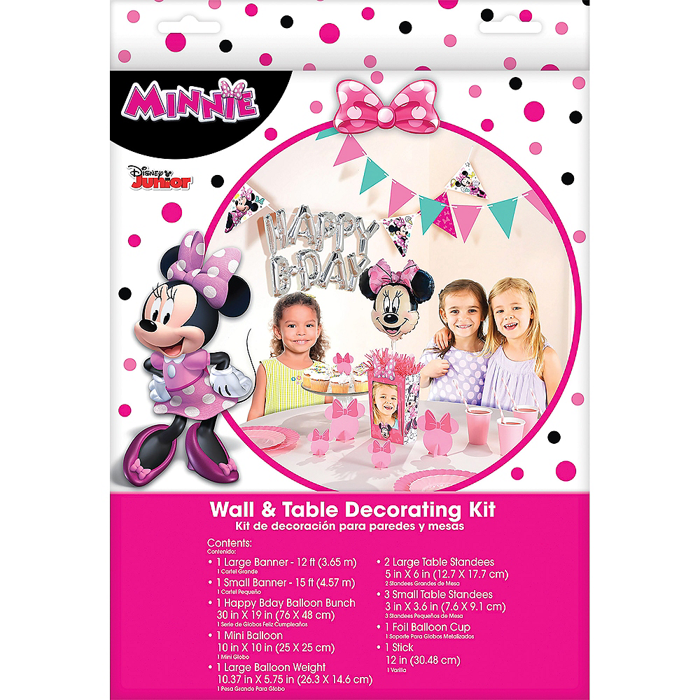 Minnie Mouse Birthday Wall & Table Decorating Kit 12pc Image #1