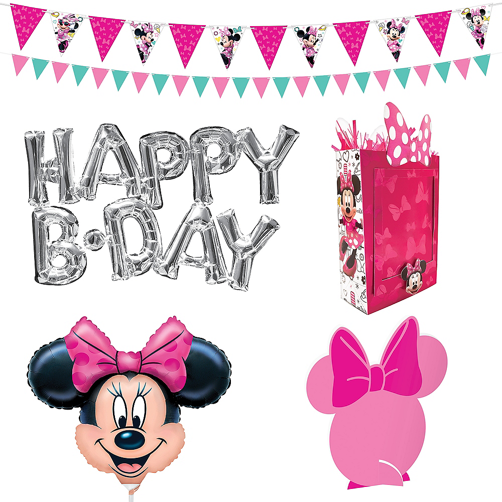 Minnie Mouse Birthday Wall & Table Decorating Kit 12pc Image #2