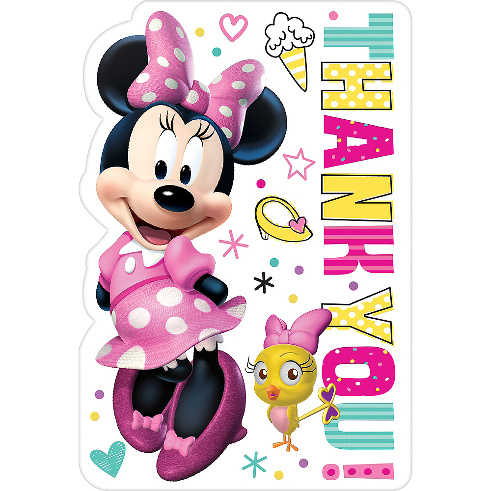 Minnie Mouse Thank You Notes 8ct Image #1