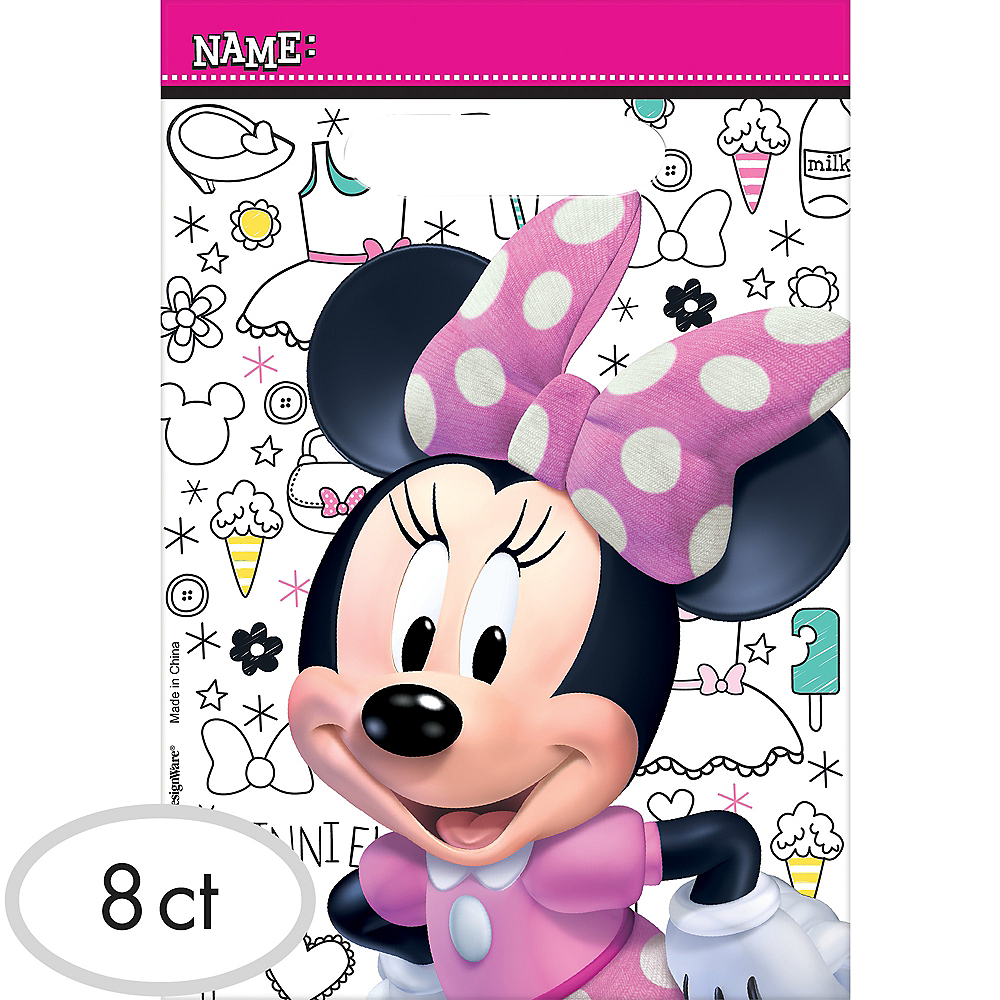 Minnie Mouse Favor Bags 8ct Image 1
