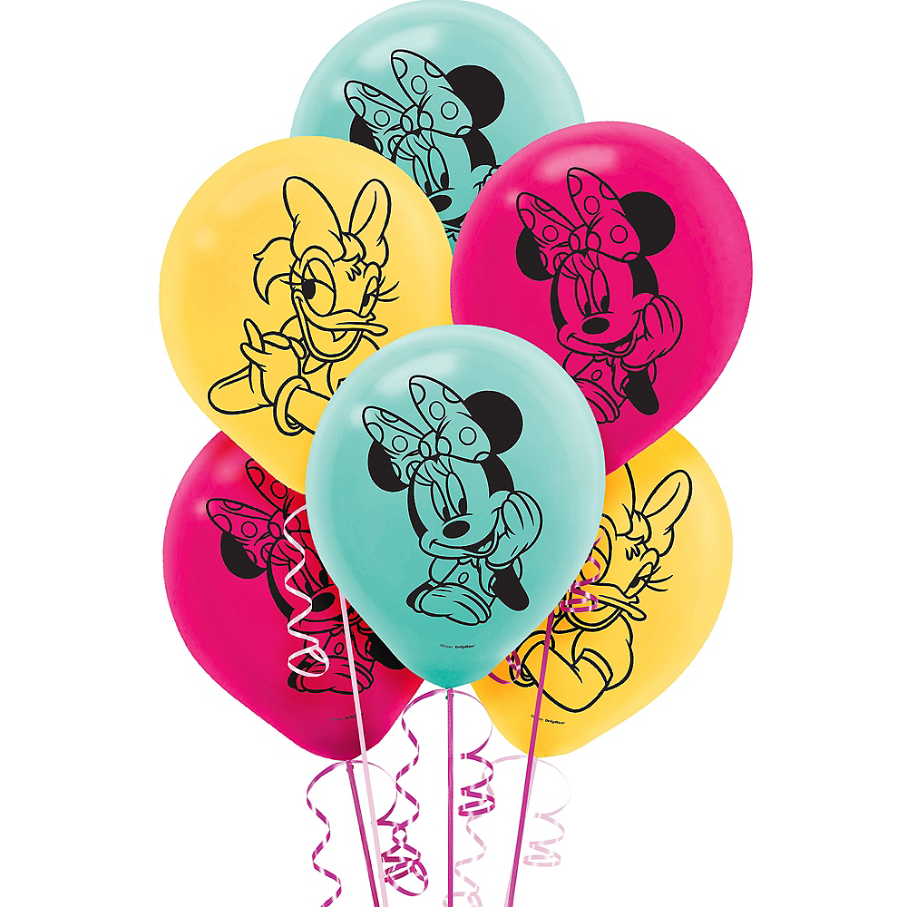 Nav Item for Minnie Mouse Balloons 6ct Image #1