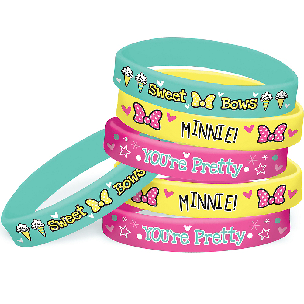 Minnie Mouse Wristbands 6ct Image #1