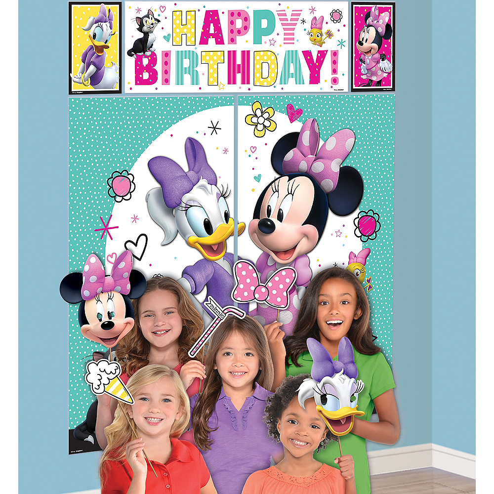 Minnie Mouse Scene Setter with Photo Booth Props Image #1