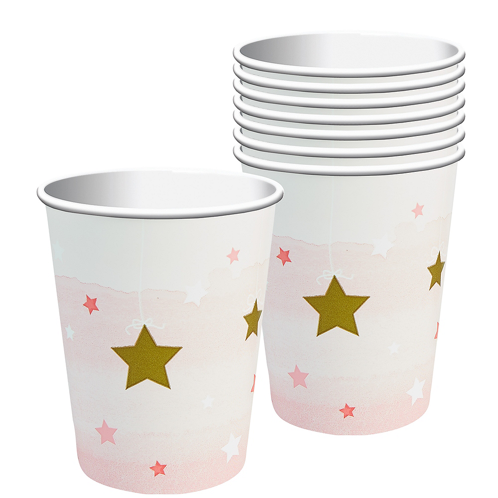 Pink Twinkle Twinkle Little Star Cups 8ct Image #1