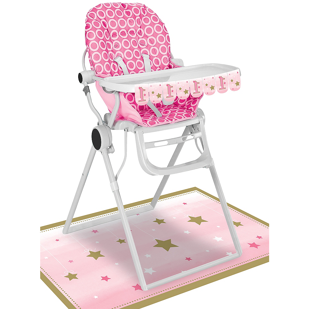 Pink Twinkle Twinkle Little Star 1st Birthday High Chair
