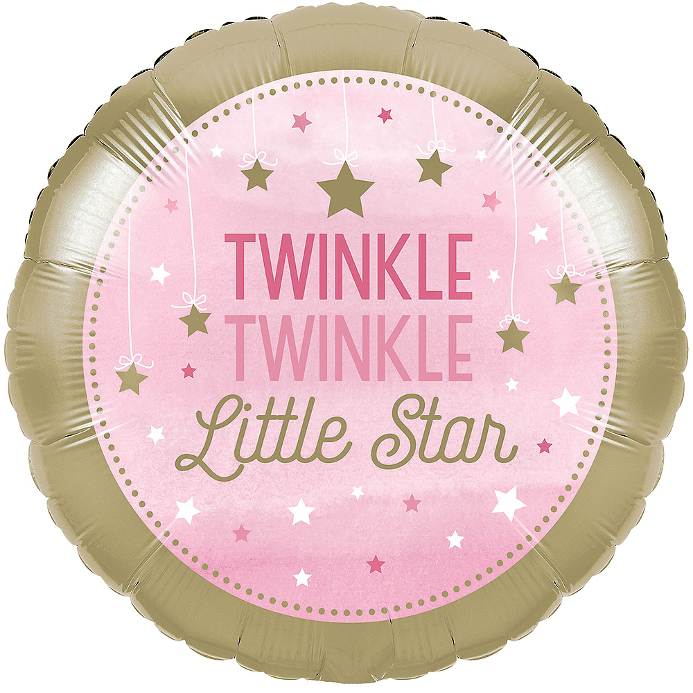 Pink Twinkle Twinkle Little Star Balloon Image #1