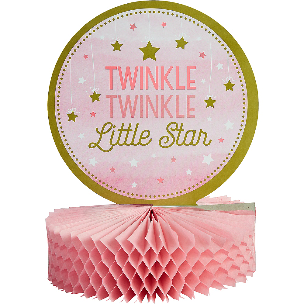 Pink Twinkle Twinkle Little Star Honeycomb Centerpiece Image #1