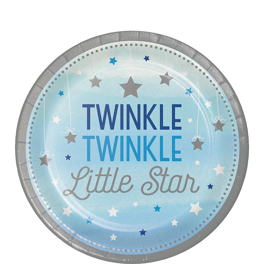 Blue Twinkle Twinkle Little Star Dessert Plates 8ct Image #1