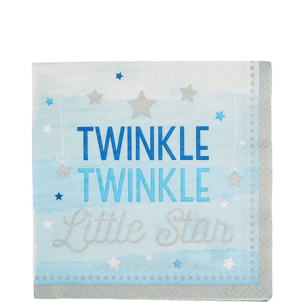 Blue Twinkle Twinkle Little Star Lunch Napkins 16ct Image #1
