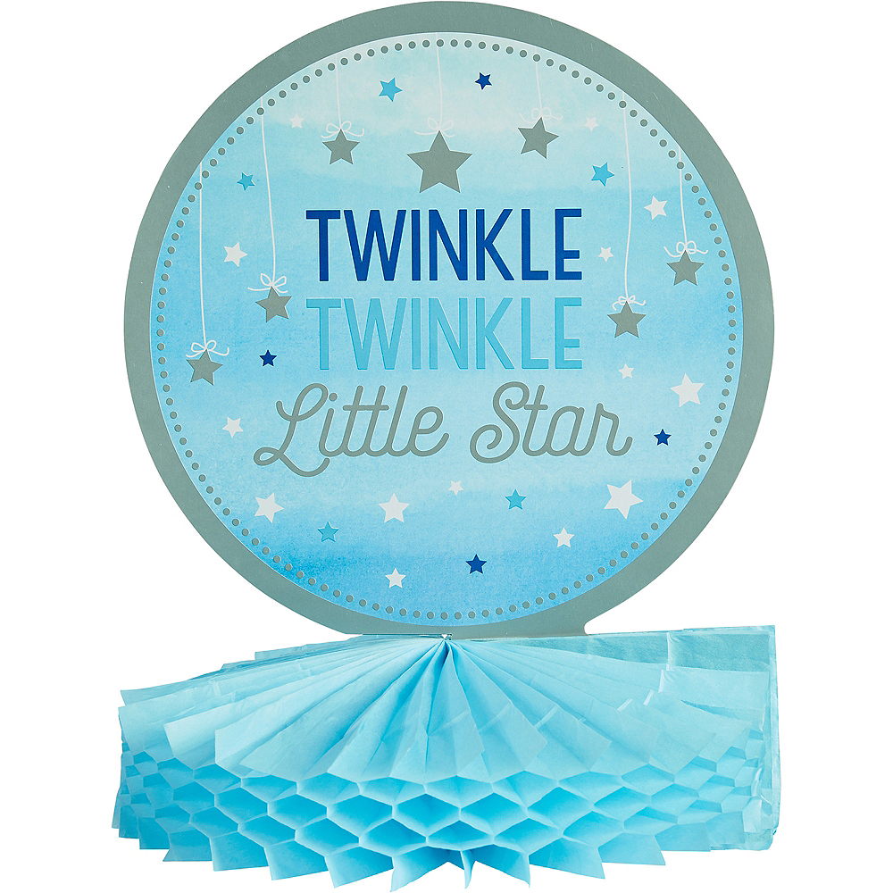 Blue Twinkle Twinkle Little Star Honeycomb Centerpiece Image #1