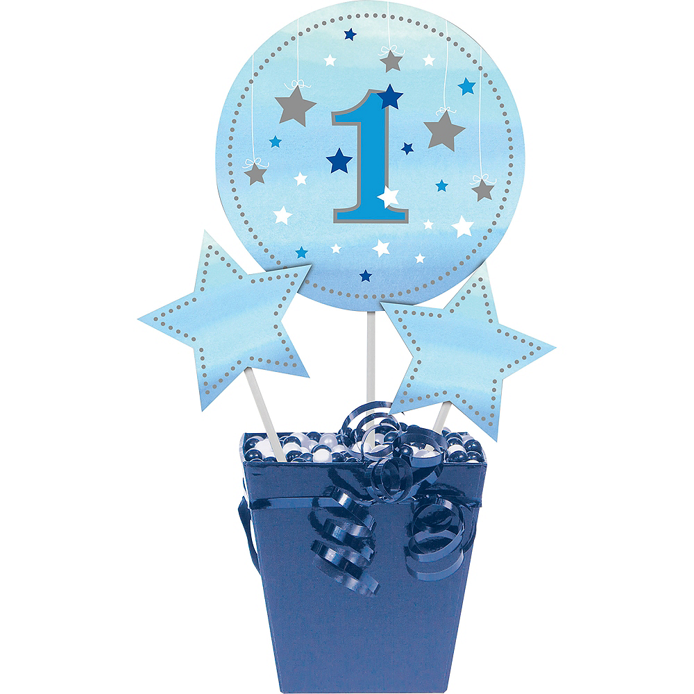 Blue Twinkle Twinkle Little Star 1st Birthday Centerpiece Sticks 3ct Image #1