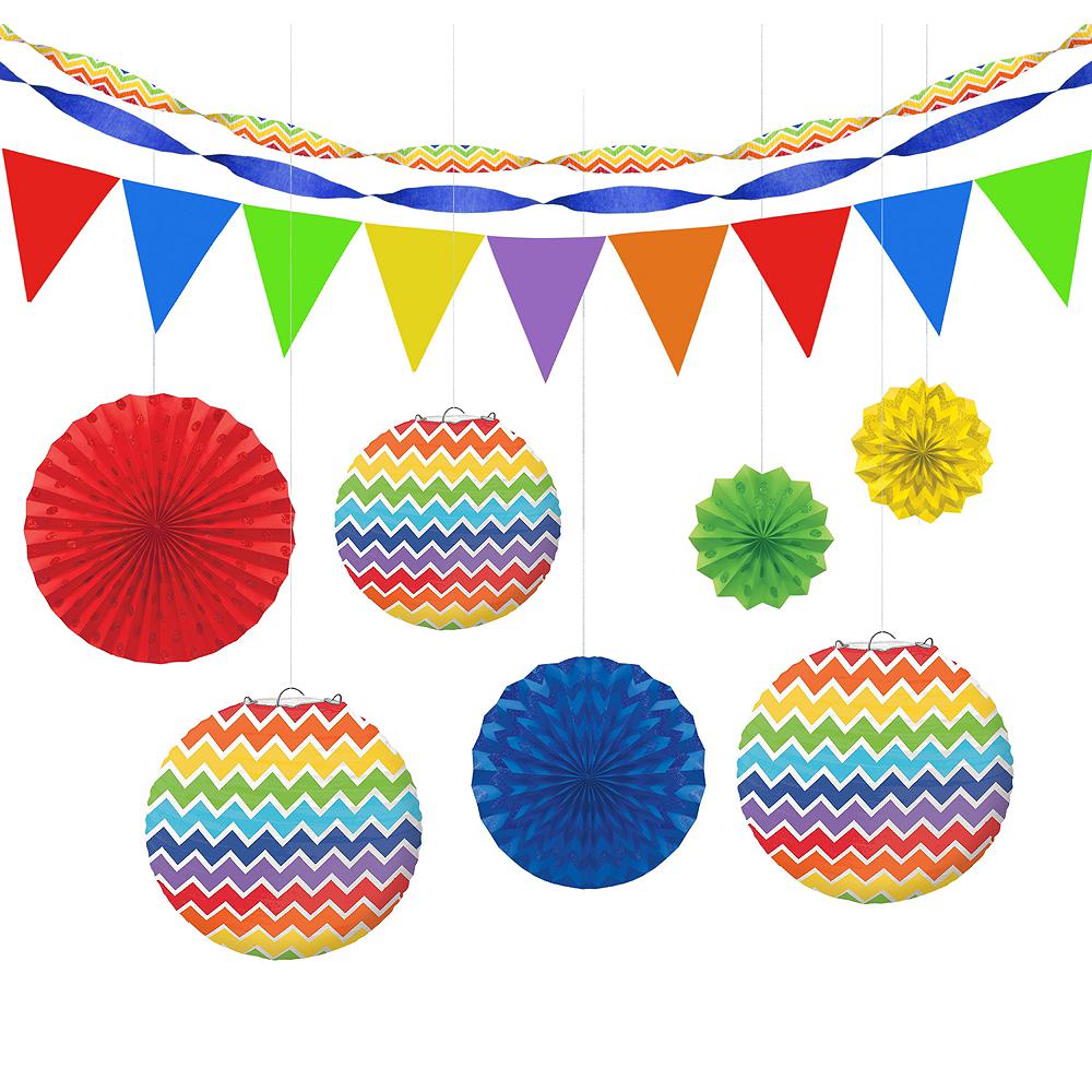 Rainbow Polka Dot & Chevron Decorating Kit Image #1