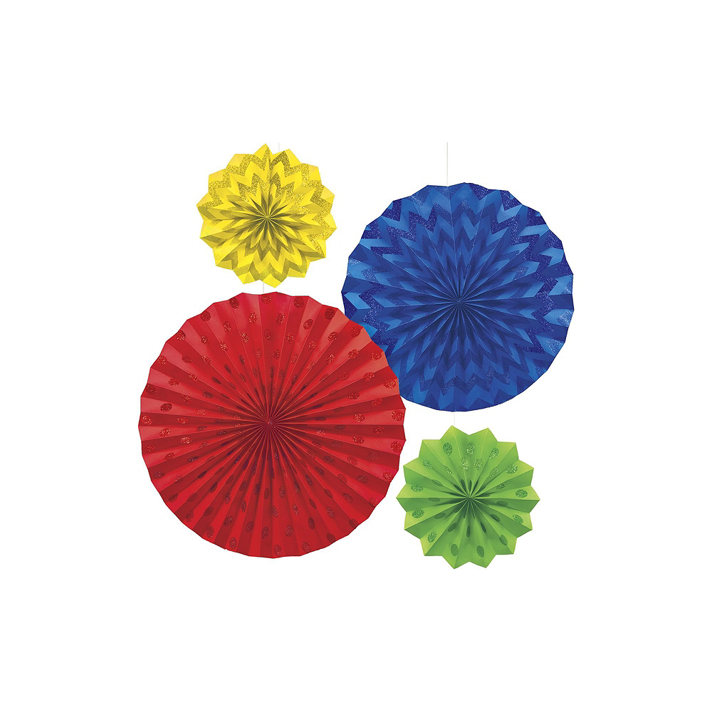 Rainbow Polka Dot & Chevron Decorating Kit Image #5