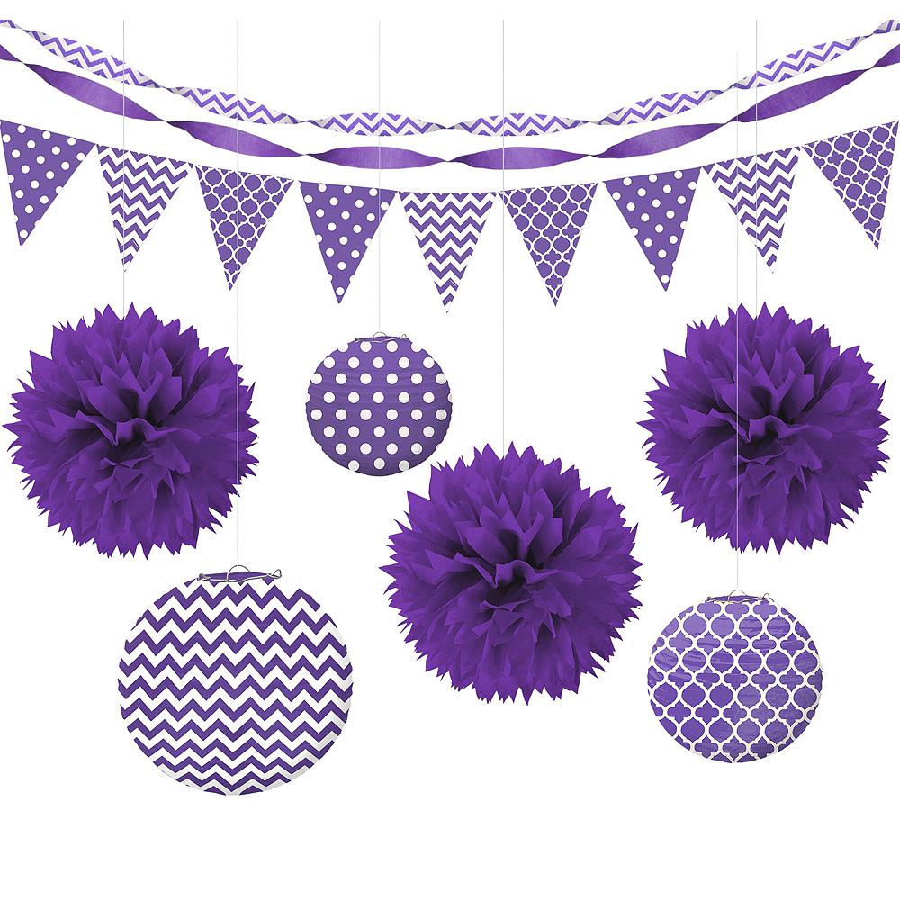 Purple Polka Dot & Chevron Decorating Kit Image #1